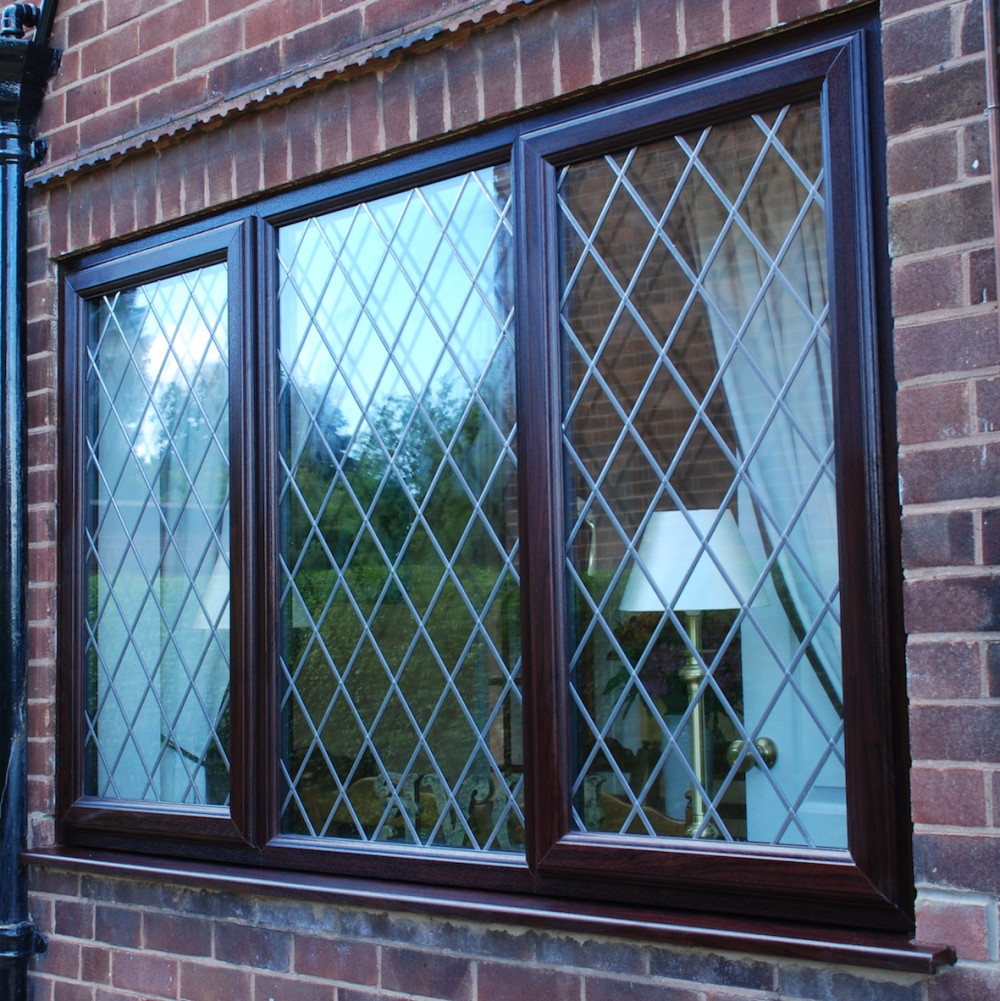 Beautiful Rosewood Eurocell Windows Being Installed In