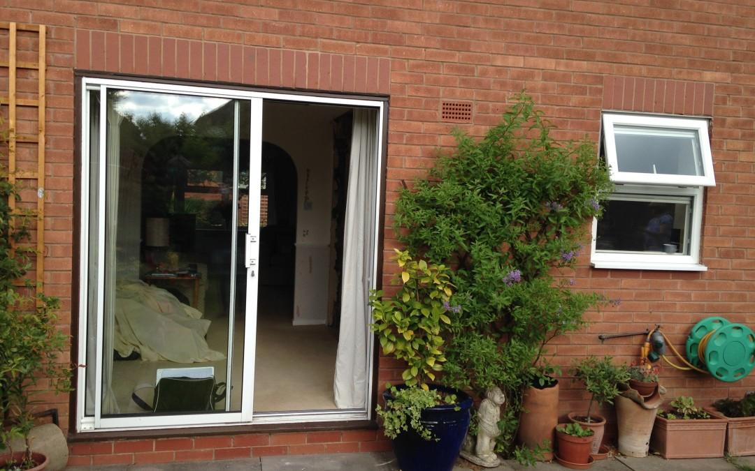 Small sliding patio doors