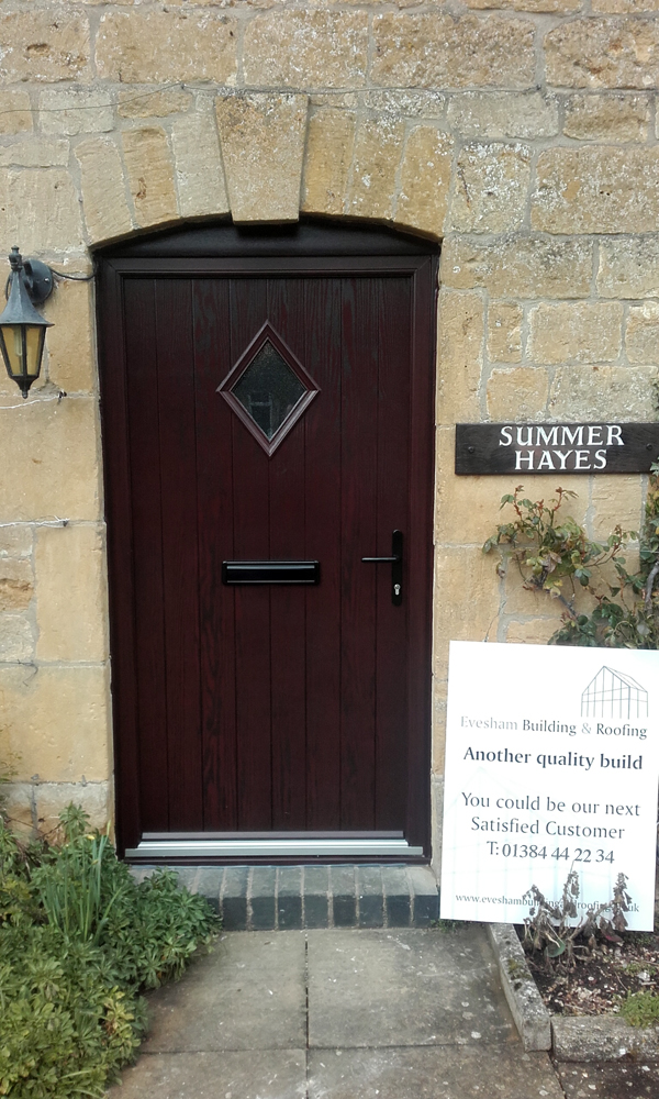 Composite door rosewood number 1