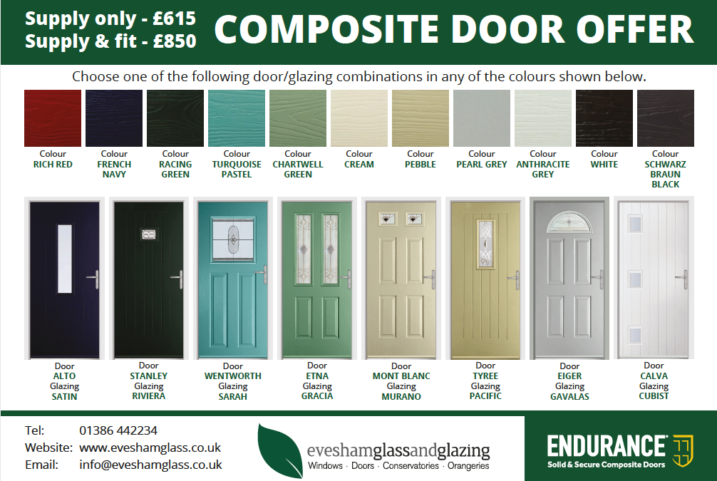 Solid & Secure, Our Limited Time Composite Door Offer