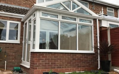 Installing A Gable Frame Conservatory – Redditch, Worcestershire