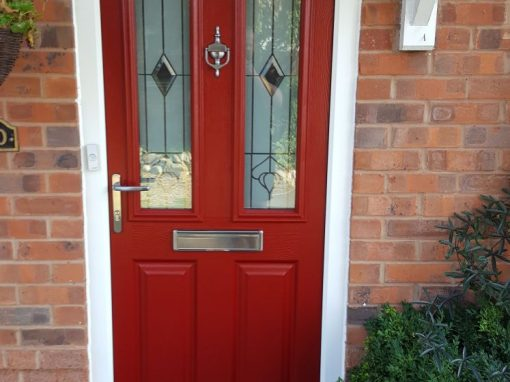 Endurance Composite Doors In Rich Red
