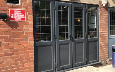 The Tiger Inn Walsall,  Commercial uPVC Door Installation