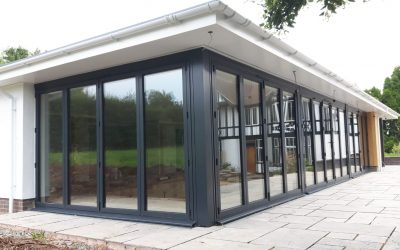 New build bi-folding door installation Worcester