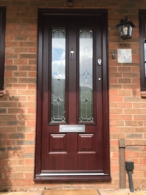 Scafell Endurance Composite Door in Rosewood