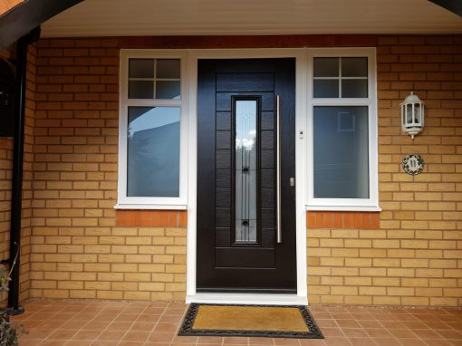 Fuji Endurance composite door in Schwarz Braun Black
