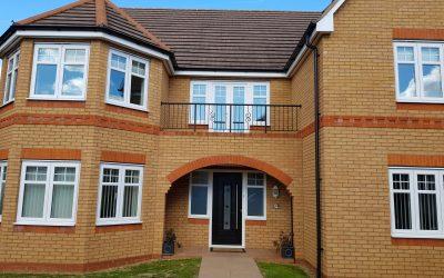 New Composite Front and Back Door, Badsey Worcestershire.