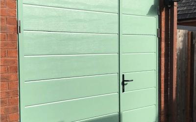 Mr Davies,  New Side Singed Garage Door, Harvington Worcestershire