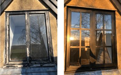 Mr and Mrs Johnston, aluminium windows in Blockley Gloucestershire