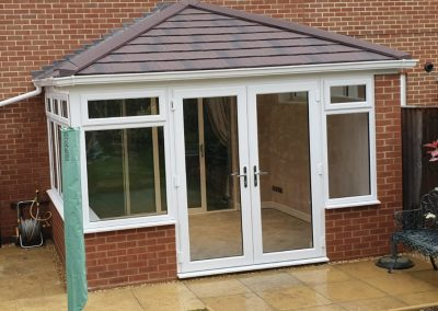 The finished patio doors